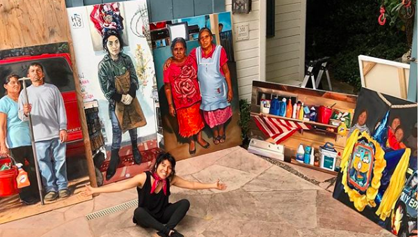 Artist Criselda Vasquez Paints A Dedication To La Lucha